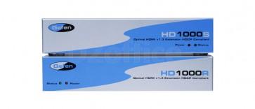 """<div>EXT-HD-1000</div> <div>Комплект устройств для передачи сигналов HDMI интерфейса до 100 метров по оптоволоконным кабелям</div> <div class=""""catalog-element-text""""><br /> <h3>Основные особенности:</h3> <ul> <li>Расстояние передачи сигнала может достигать"""