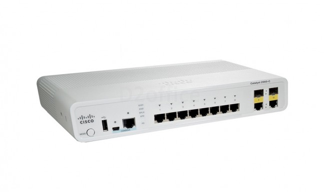 Catalyst 2960c switch 8 fe, 2 x dual uplink, lan lite