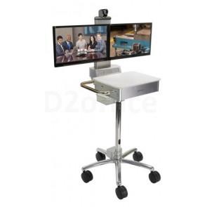 Polycom RealPresence Utility Cart 500 dual monitor