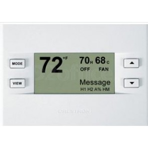 Crestron Heating/Cooling and Humidity Thermostat, Almond