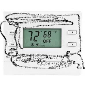 Crestron infiNET EX Thermostat Fan Coil Unit, Matte Black