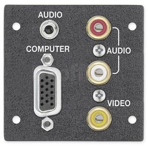 Extron One 15-pin HD Female to Captive Screw, One 3.5 mm Stereo Mini Jack to Captive Screw; Three RCA Female to Captive Screw