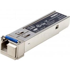 1000BASE-BX-20U SFP transceiver for single-mode fiber, 1310 nm wavelength, supports up to 40 km