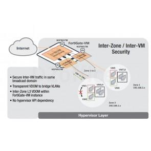 FortiGate VM 1x vCPU core, 1 GB RAM