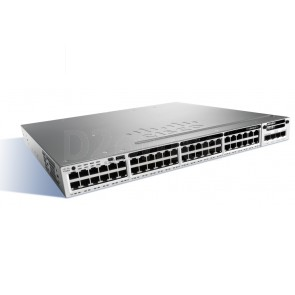 Cisco Catalyst 3850 48 Port Full PoE w/ 5 AP license IP Base